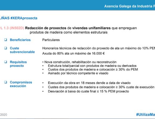 Presentación de solicitudes para las ayudas a la construcción con madera de viviendas unifamiliares en Galicia